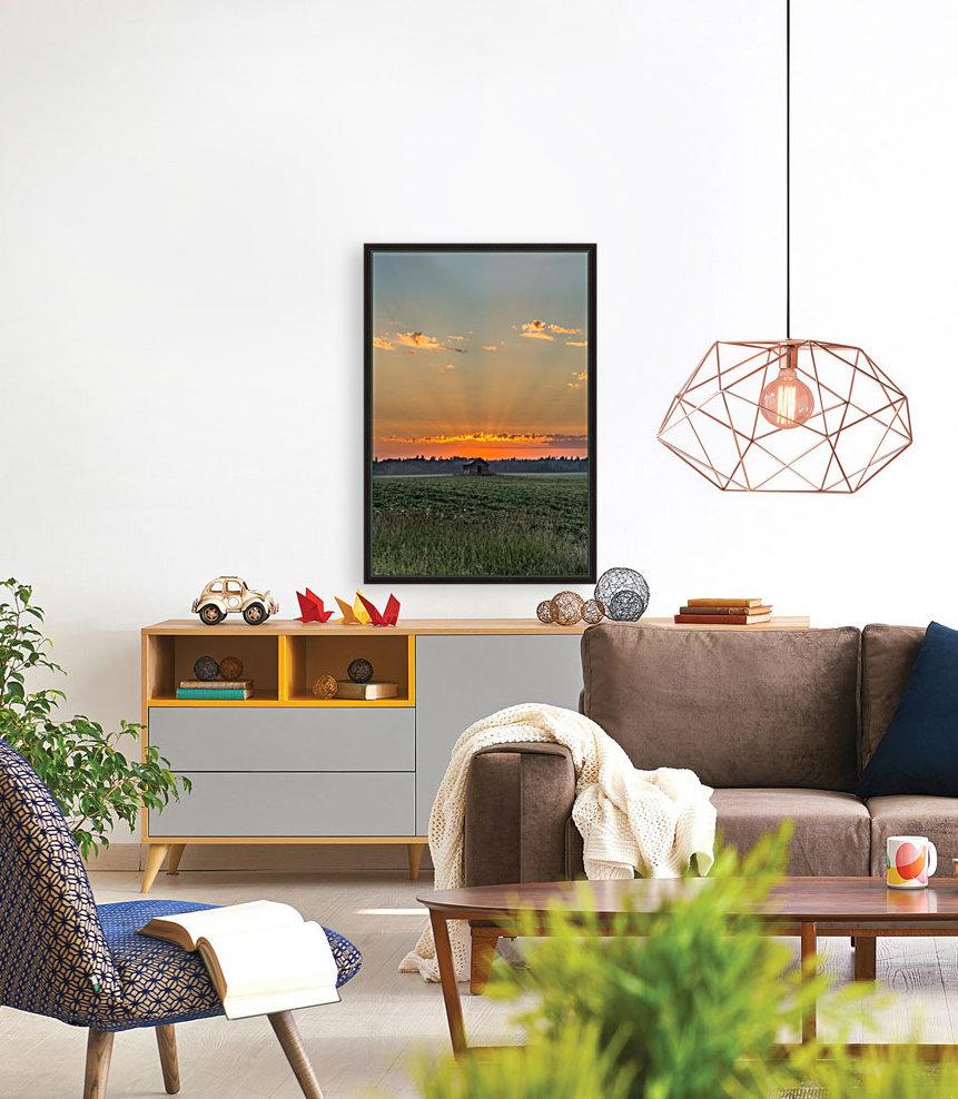 Sunset Hut  Art