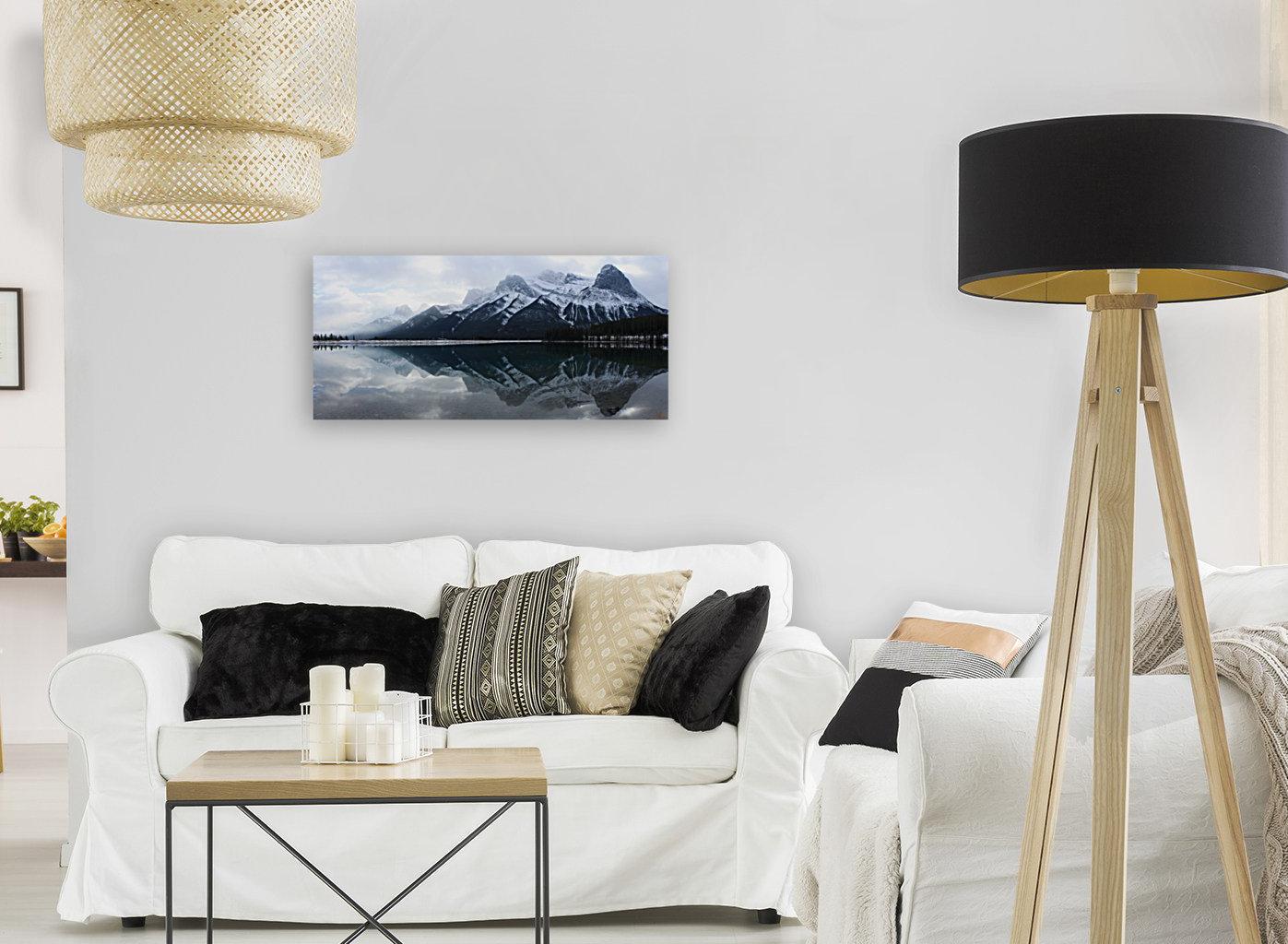 Canmore Winter Mountain Panorama  Art