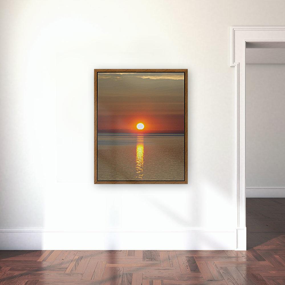Orange Sunset Vertical  Art