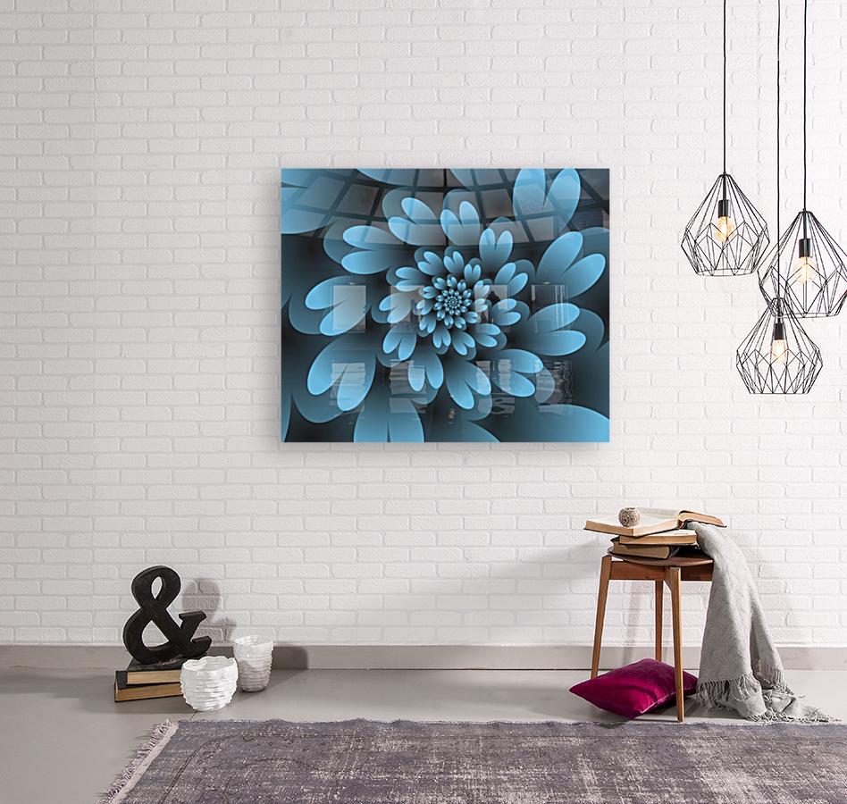 Blue Floral Satin Wallpaper  Art
