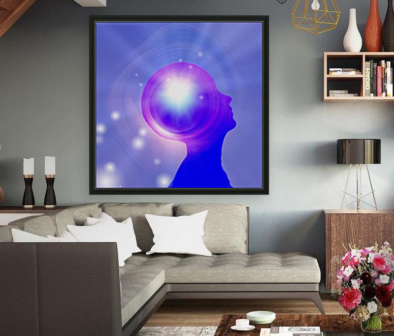 Human Head with Light  Art
