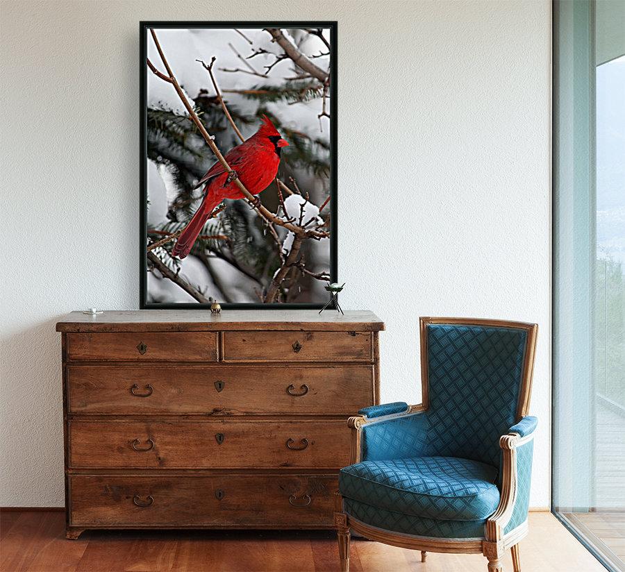 Vertical Cardinal  Art