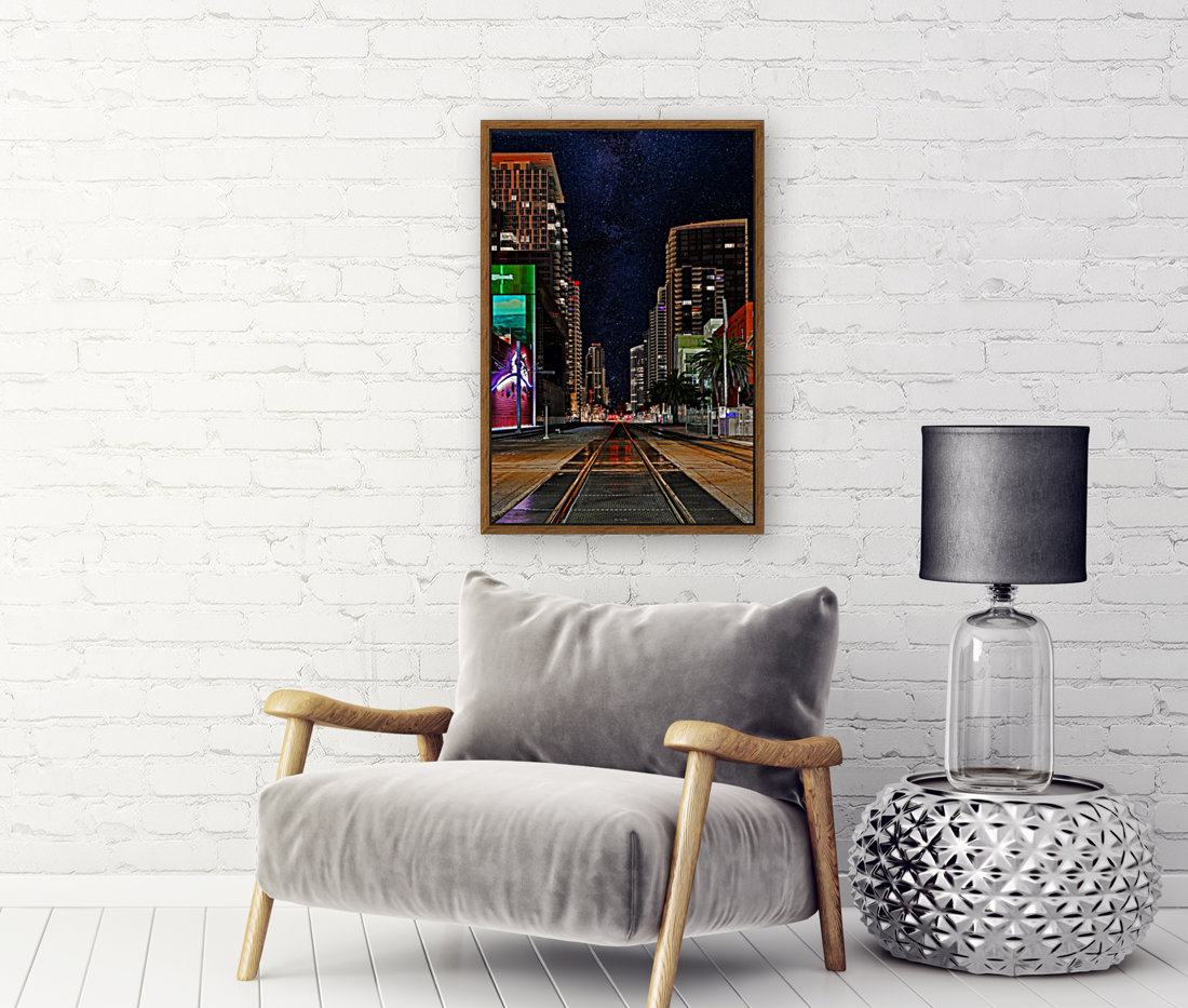 Midnight City Blues with Floating Frame