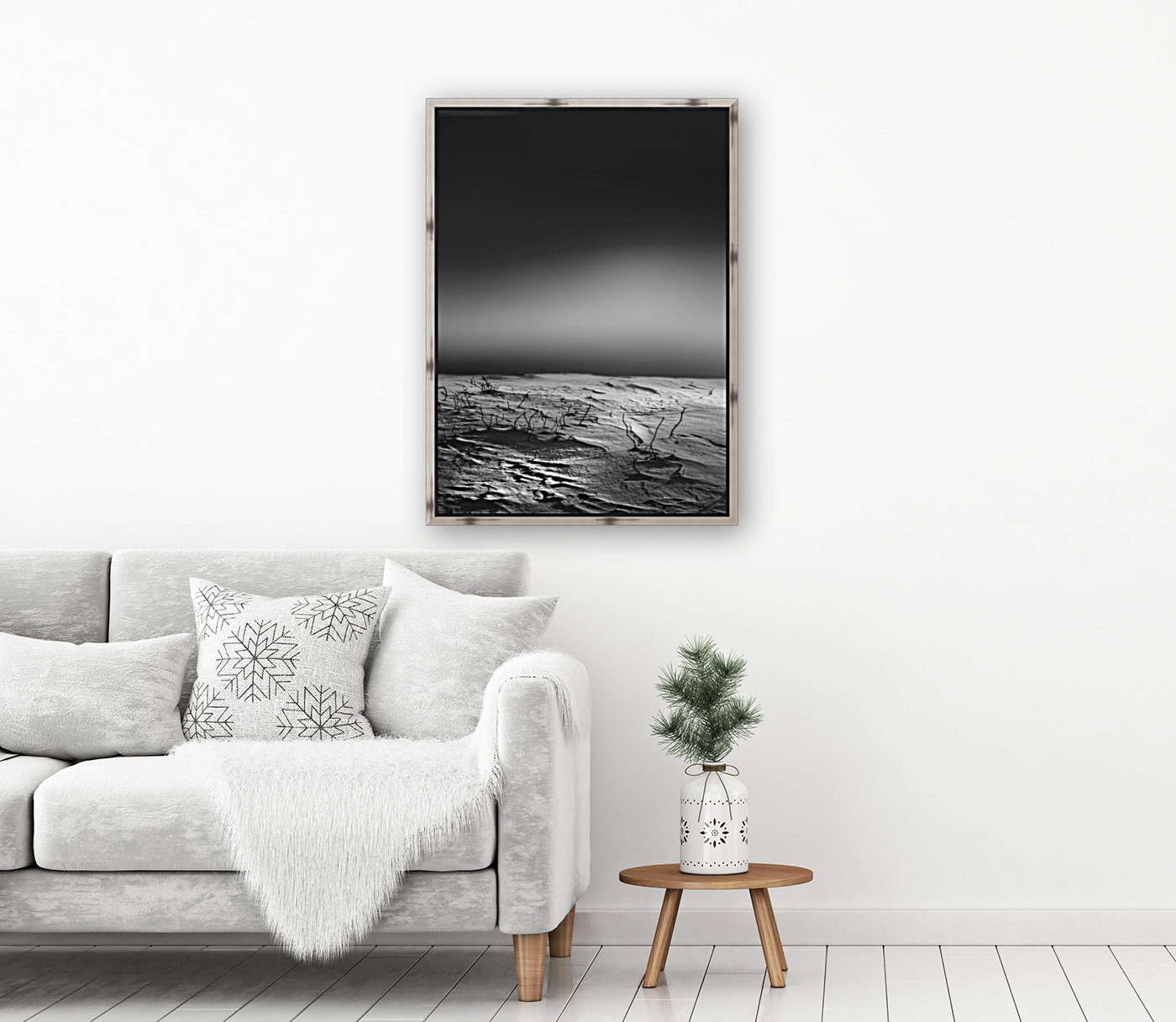 Silent Morning with Floating Frame