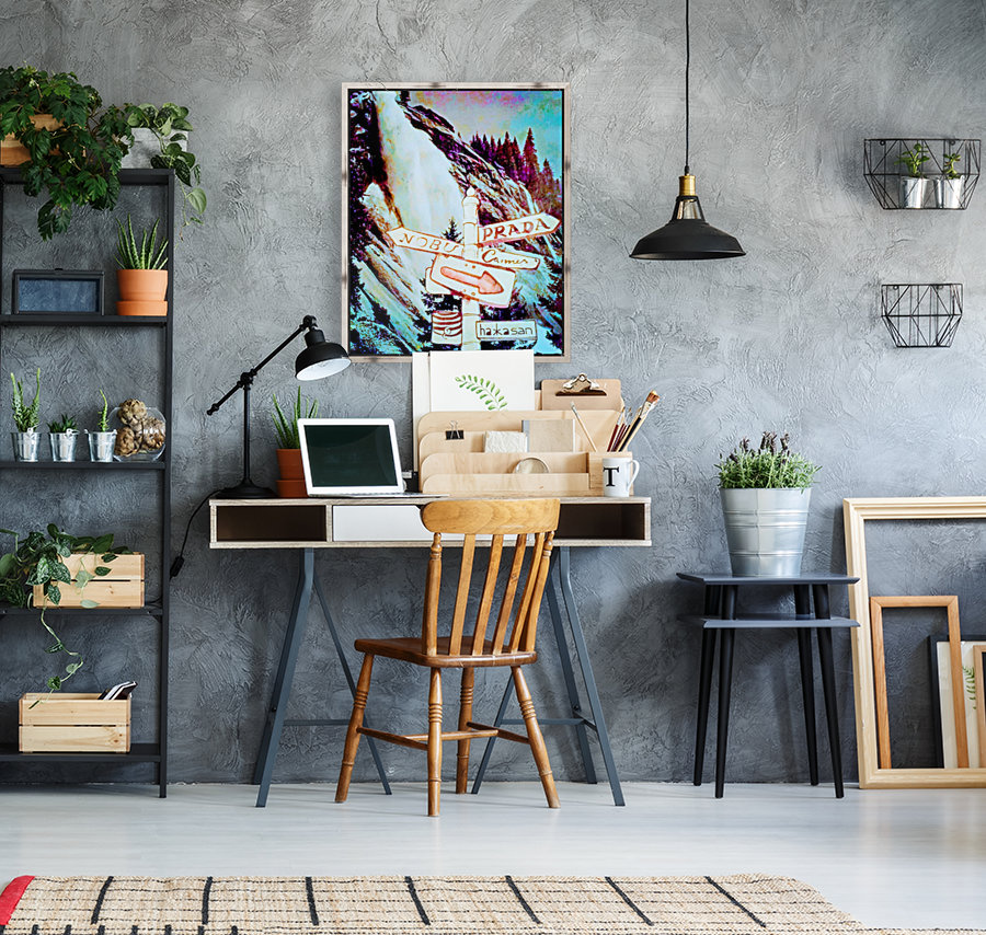 fashion wall art with Floating Frame