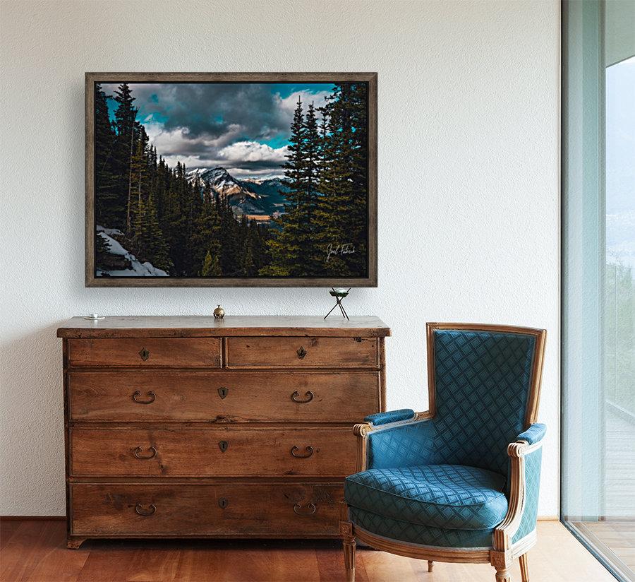 Cascade Mountain Through The Trees  Art