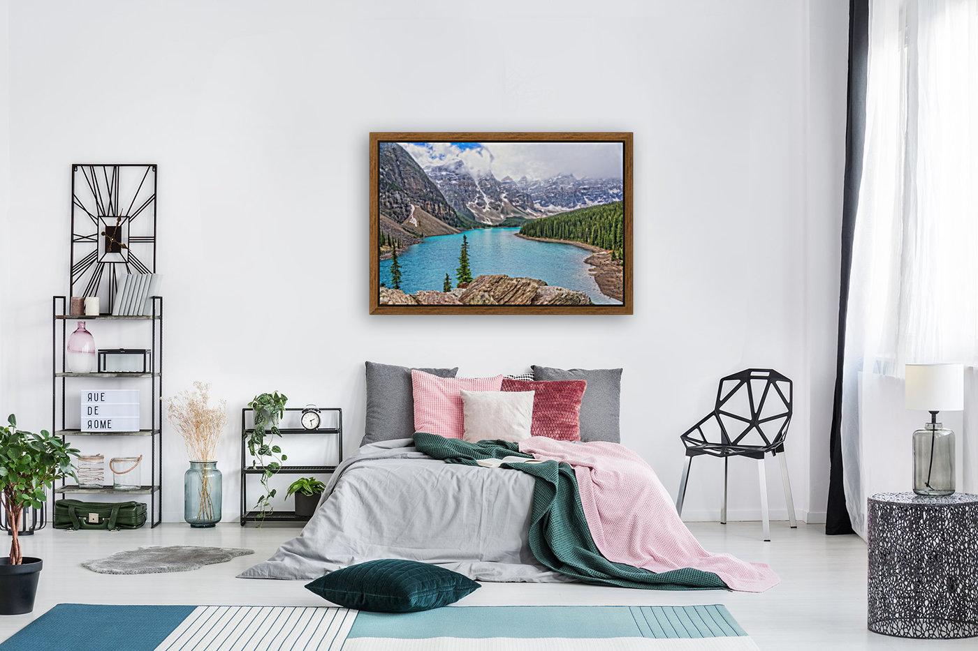 Moraine Lake in Banff National Park BC  Art
