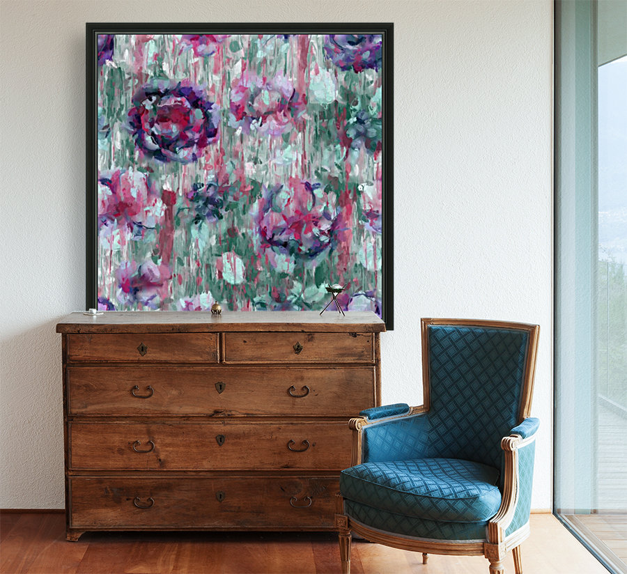 Multicolor Abstract Floral   Art