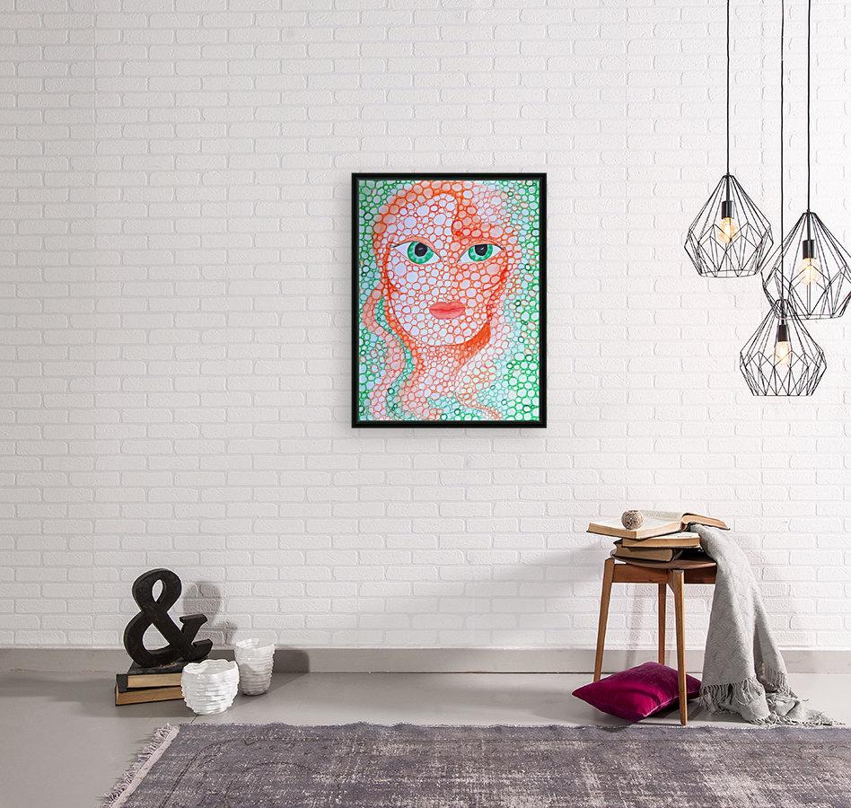 Girl and Circles  Art