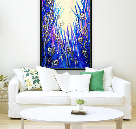 Wild Daisies with Floating Frame