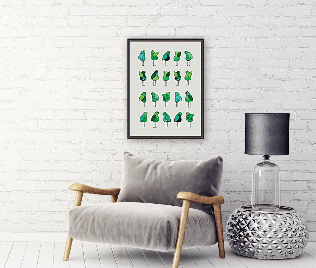 Gossip Birds Green  Art