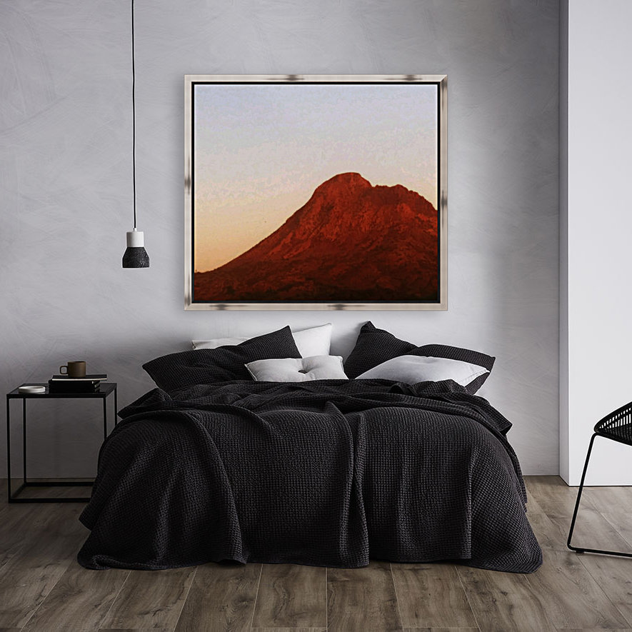 Red mountain side  Art