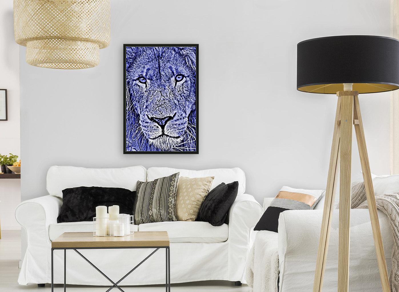 Male Lion Face thula art 5  Art