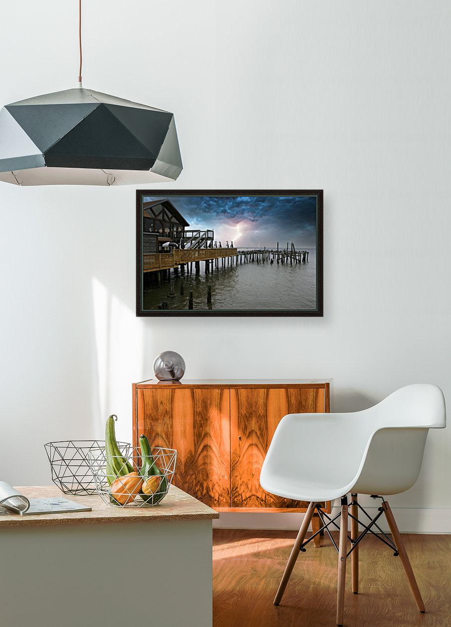 Lightning over Pier  Art