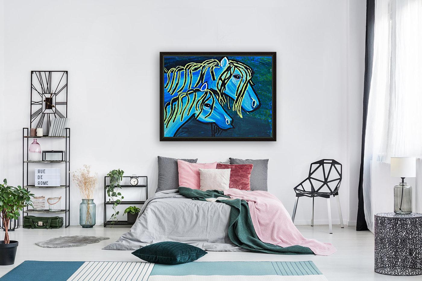 Blue Horse. Glenn N  Art