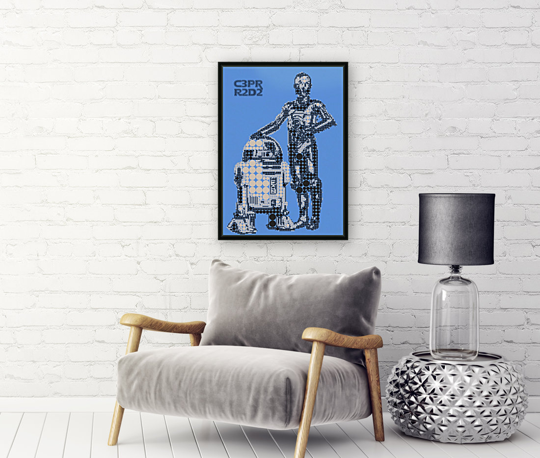 C3PO & R2D2 with Floating Frame