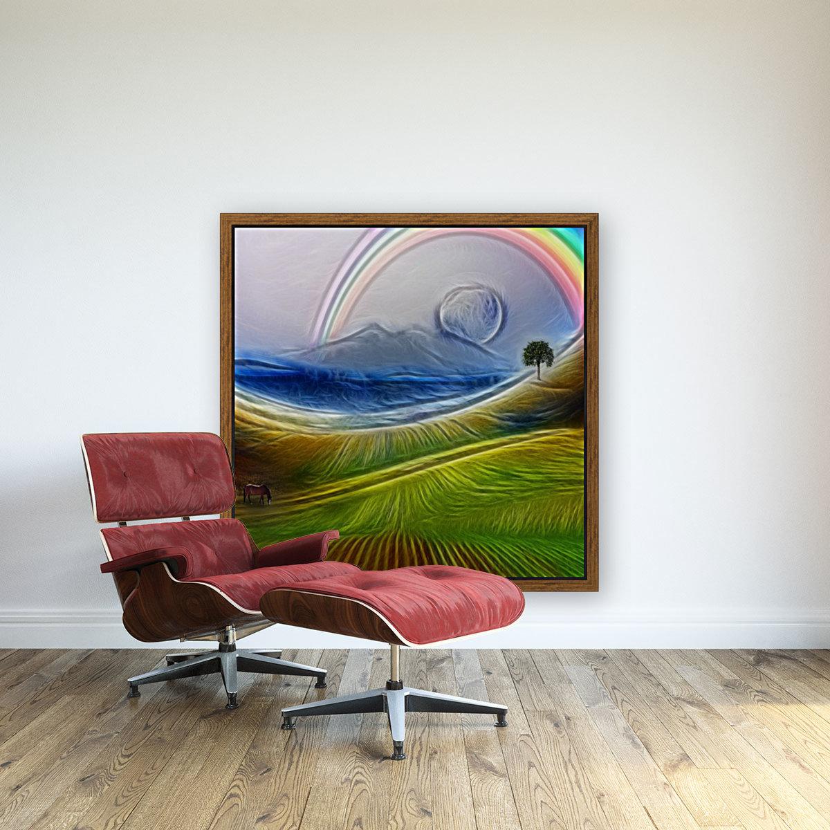 Painterly Peaceful Landscape  Art