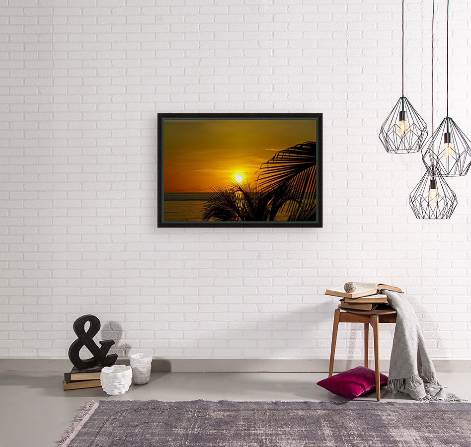 Sunrise at the palm tips  Art