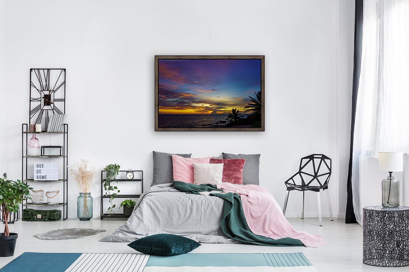 Colorful Caribbean Sky at Grand Cayman  Art