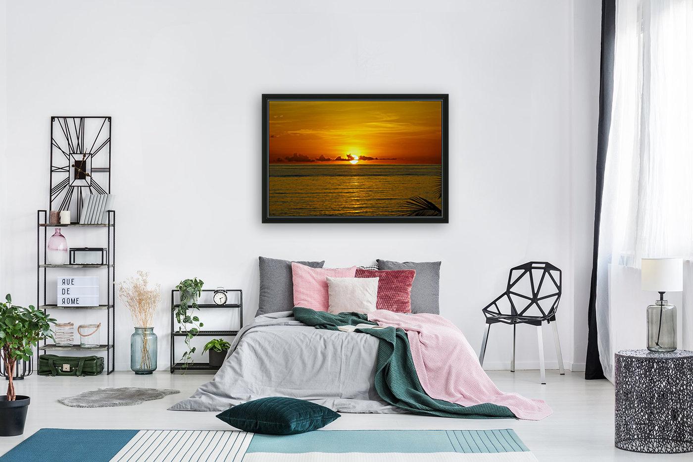 Sun rising on the ocean  Art