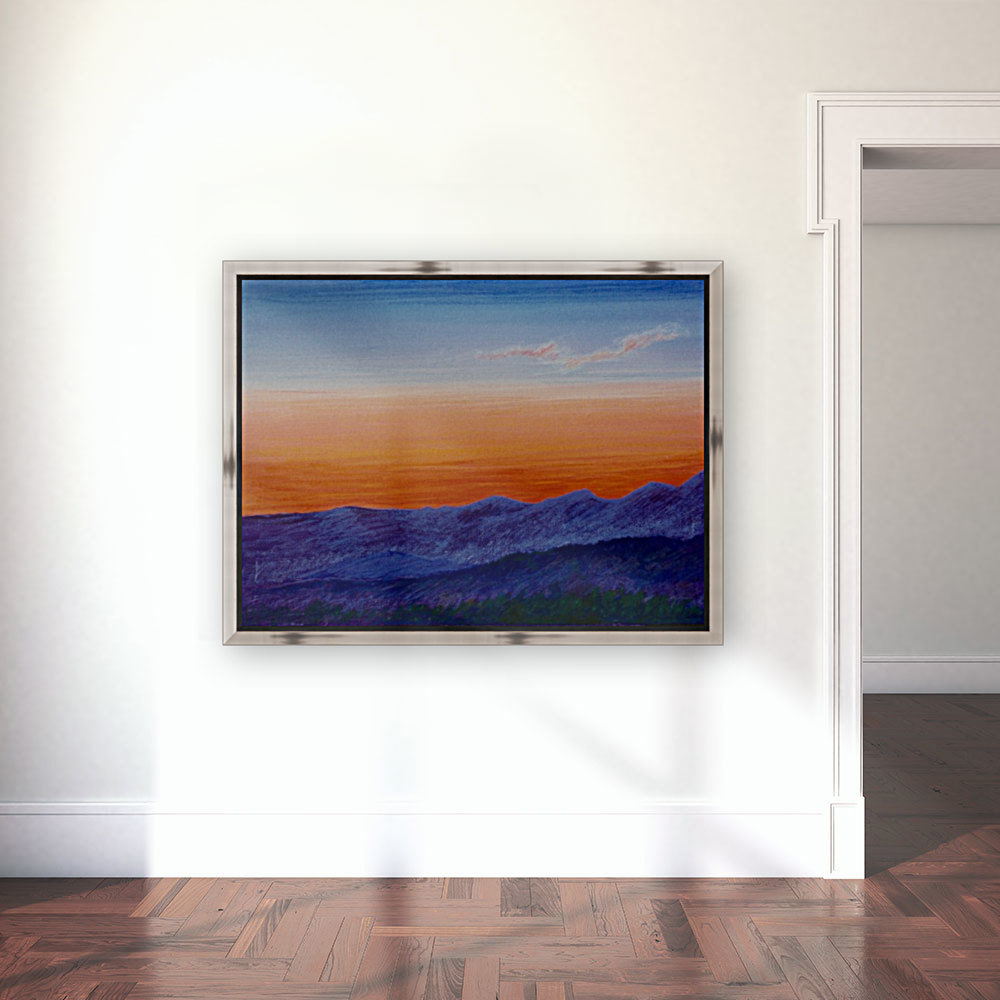 Sunset with Floating Frame