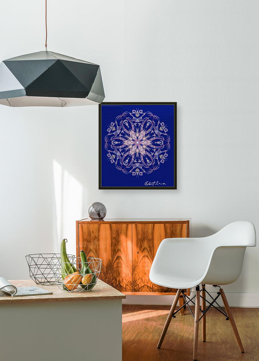 Limited Edition - Blue Graphic Art Healing Mandala 1005  Art