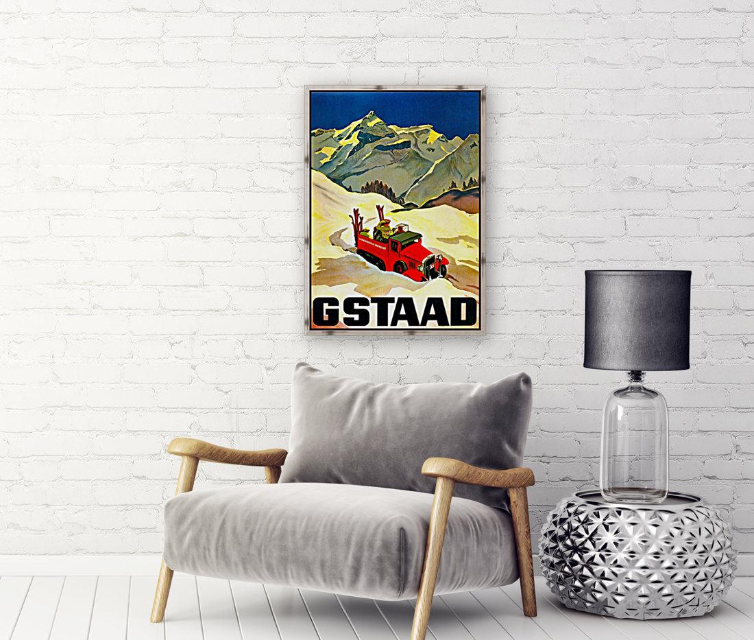 Vintage Travel - Gstaad  Art