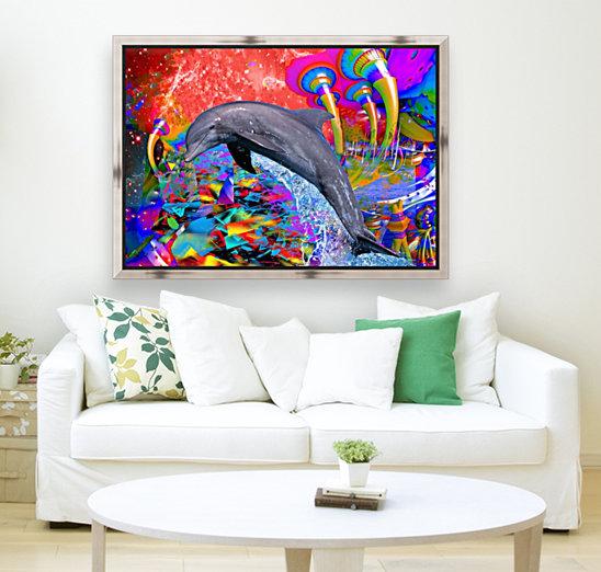 Dolphin Color Splash  Art
