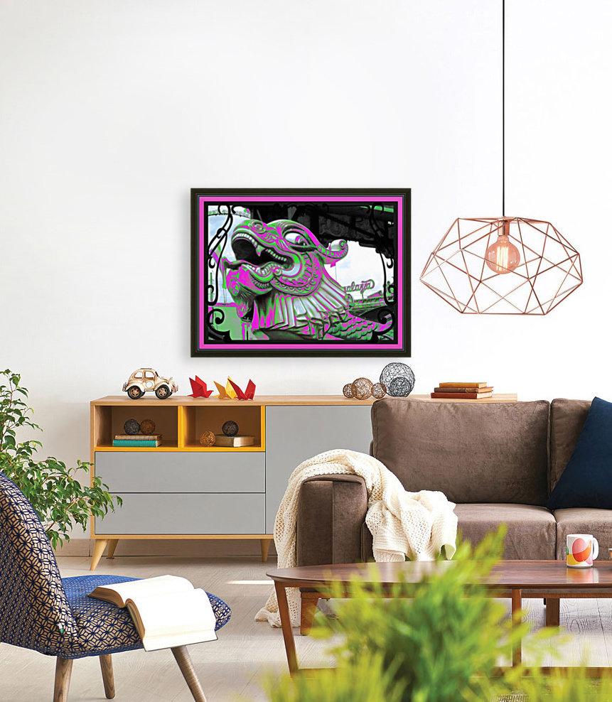 Carnival Creature in Purple & Green  Art
