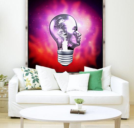 Human Light Bulb Head  Art