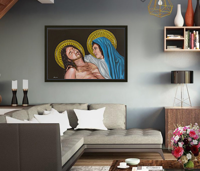 Pieta with Floating Frame