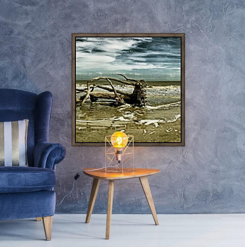 Driftwood Beach Panorama 103 Blackgold  Art