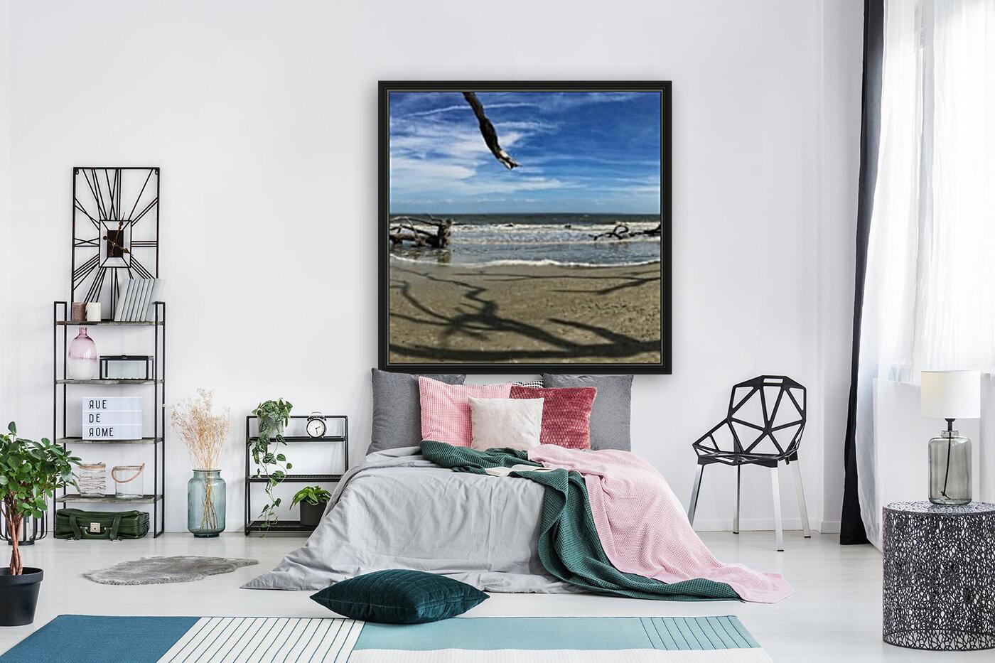 Driftwood Beach Panorama Shadows  Art