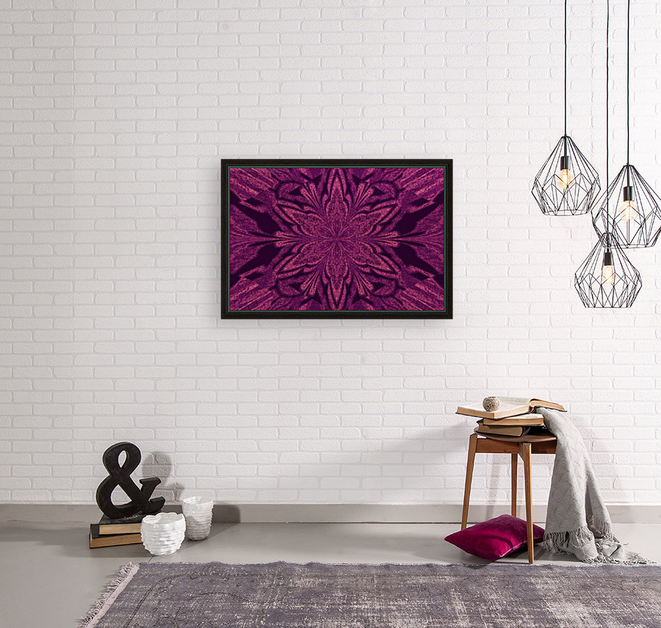 Plum in Black Jasmine with Floating Frame