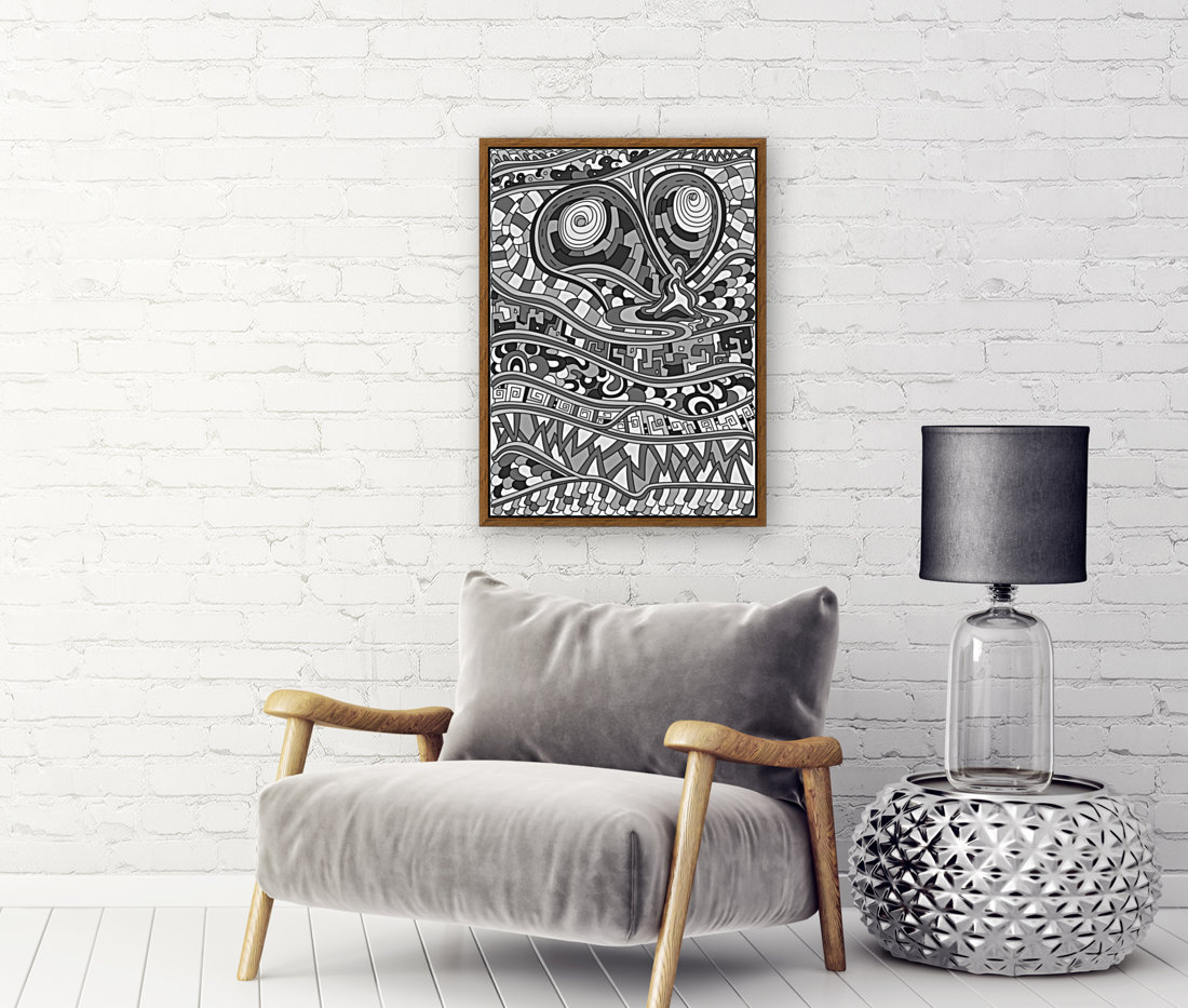 Wandering Abstract Line Art 03: Grayscale  Art