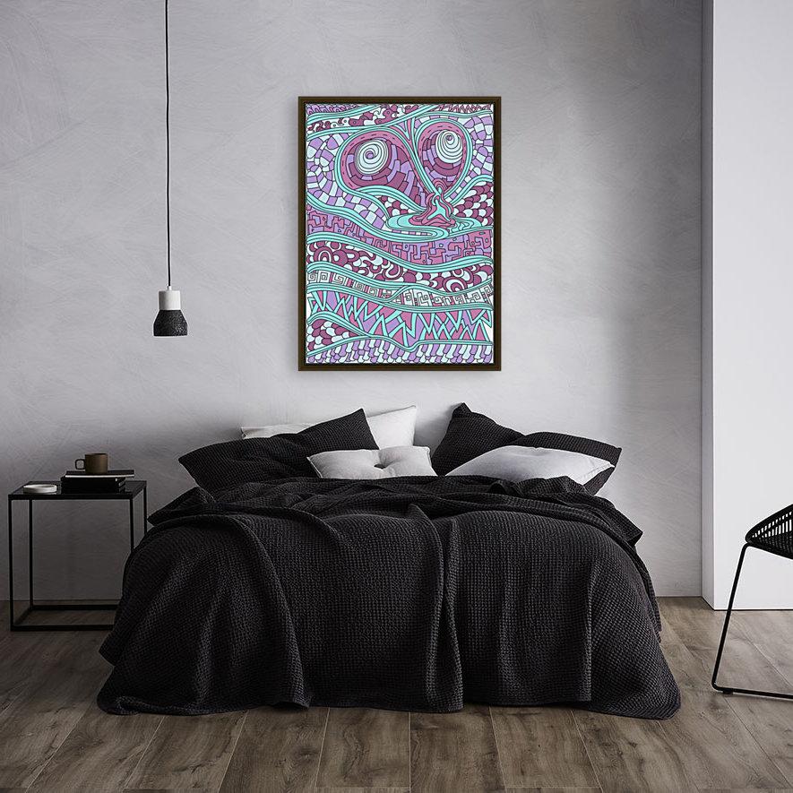 Wandering Abstract Line Art 03: Pink  Art