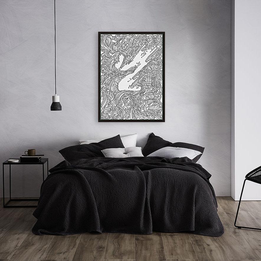 Wandering Abstract Line Art 05: Black & White  Art