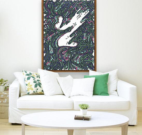 Wandering Abstract Line Art 05: Green  Art
