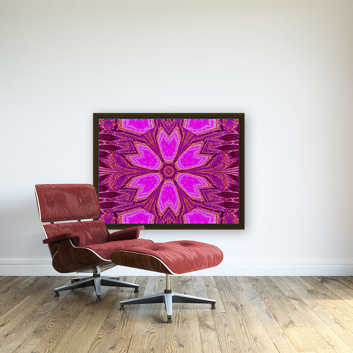 Coral Dawn with Floating Frame