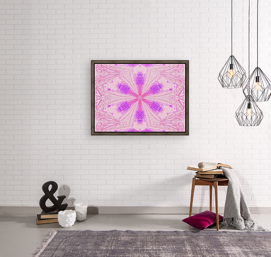 Flower in Pink Light with Floating Frame