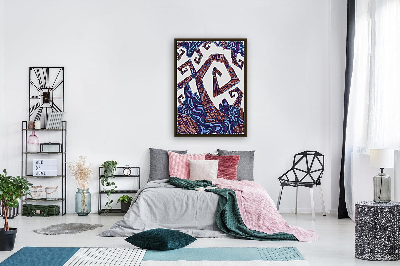 Wandering Abstract Line Art 08: Purple  Art