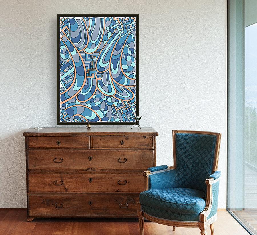 Wandering Abstract Line Art 09: Blue  Art