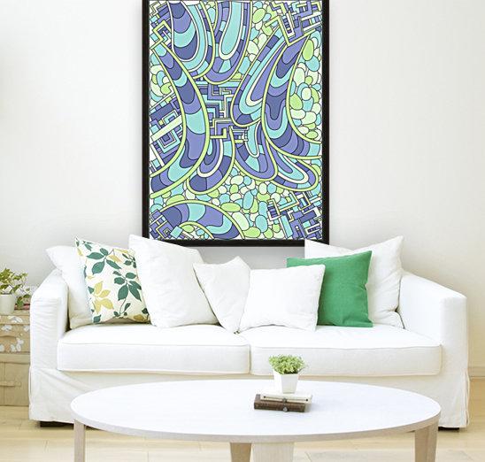 Wandering Abstract Line Art 09: Green  Art