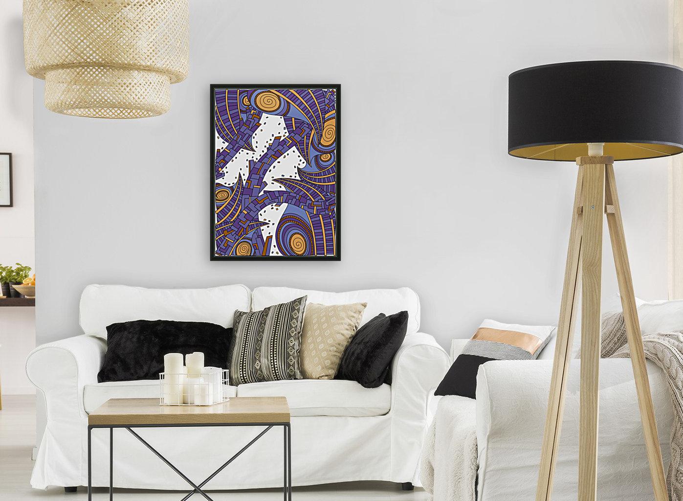 Wandering Abstract Line Art 10: Purple  Art