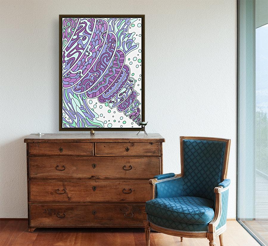 Wandering Abstract Line Art 11: Purple  Art