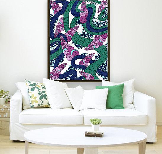Wandering Abstract Line Art 13: Green  Art