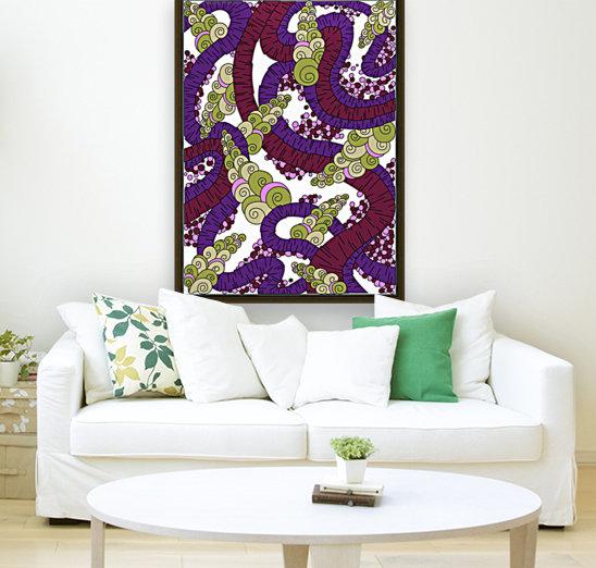 Wandering Abstract Line Art 13: Burgundy  Art