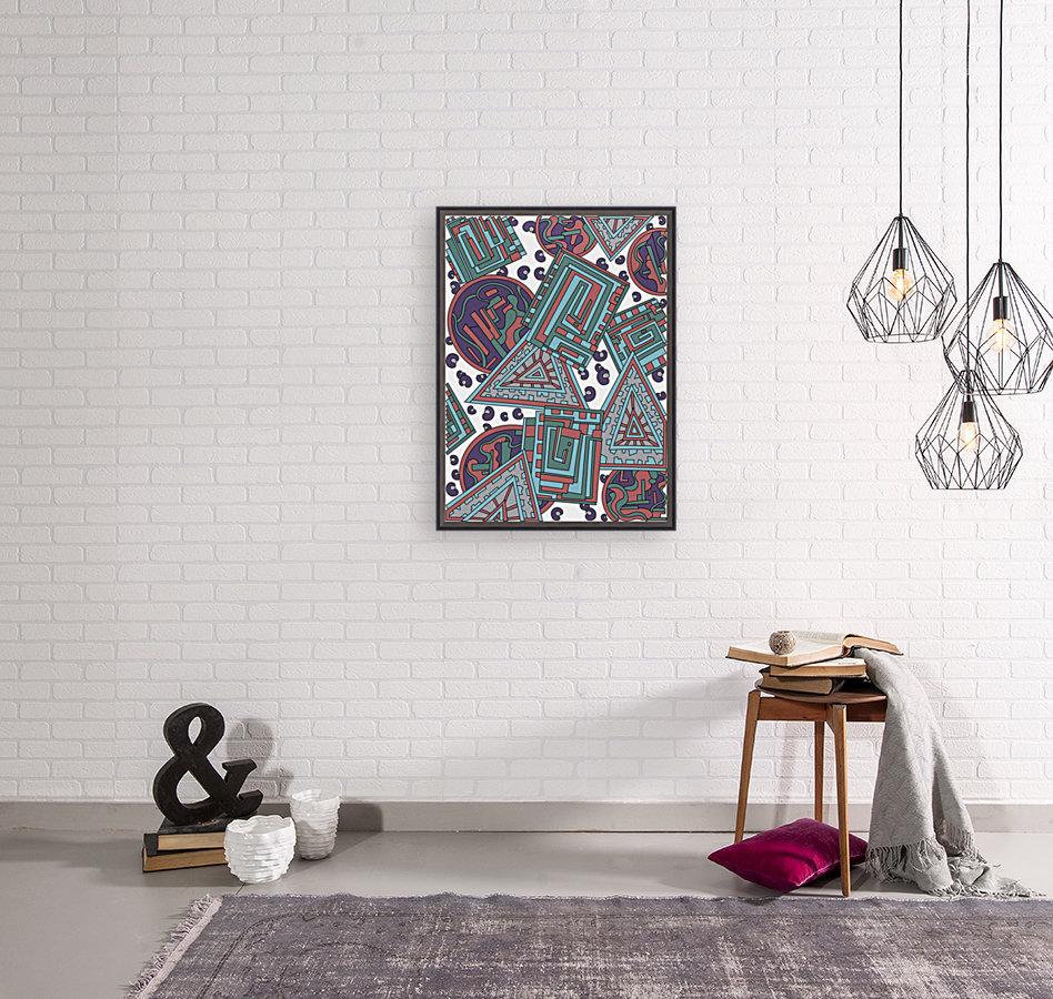 Wandering Abstract Line Art 15: Blue  Art