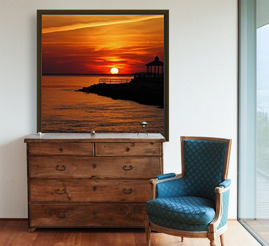 Sunset Over Indian River Inlet And Bay  Art