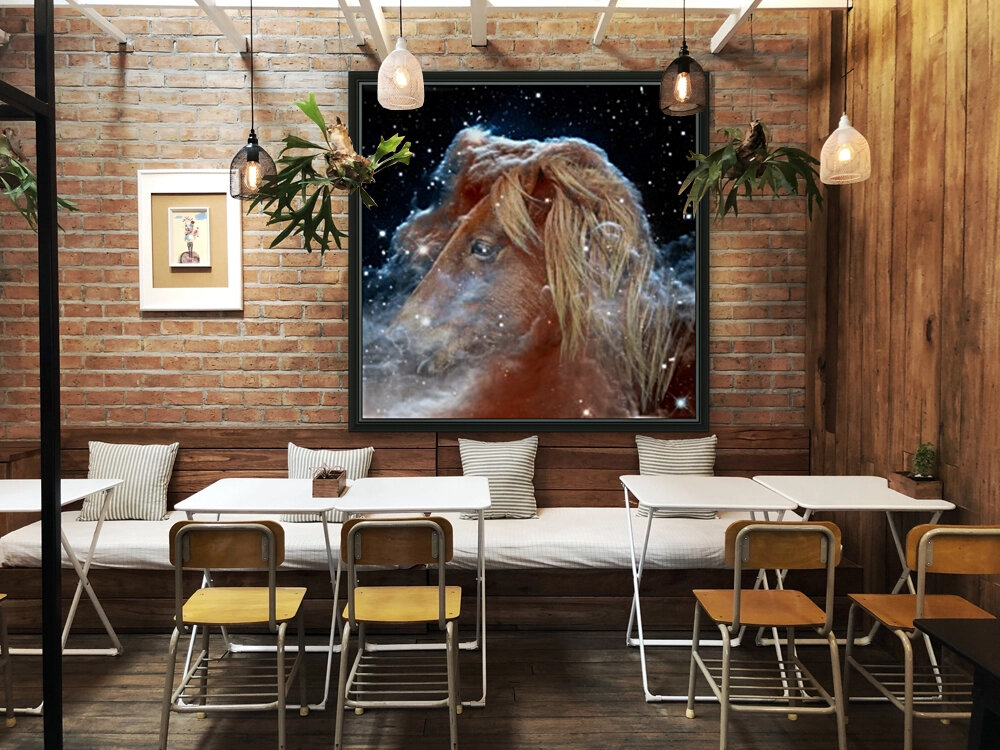 Horsehead Nebula with Horse Head in Space  Art
